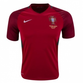 Portugal Home 16/17 with Match Details FINAL Euro2016