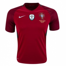 Portugal Home 16/17 with European Champions Badge and Match Details